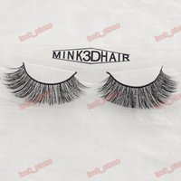Wholesale Making 3d Logos - 60 design 3D MINK hair nutural handcraft false eyelashes 1 pair in no logo hard plastic case factory compare quality hot sell