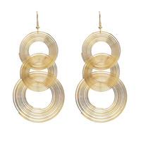 boucles d'oreilles club de nuit achat en gros de-Idealway Fashion Personnalité Night Club Longue Or Cercle Géométrique Boucles d'oreilles pendant