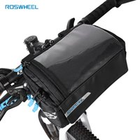 ingrosso sacchetti mappa-Roswheel New Bike Frame Bag PVC Map Tasca Top Tube Bag Pannier per biciclette Anteriore Rack Storage Bags Manubrio da ciclismo