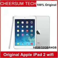 Wholesale apple ipad tablet 32gb wifi resale online - Refurbished iPad GB GB GB Wifi Original Apple ipad2 IOS Tablet A8 inch with Touch ID Tablet PC free DHL