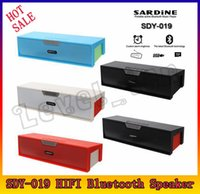 caixa de amplificador de rádio venda por atacado-SDY-019 Original Nizhi HIFI Bluetooth Speaker com tela SDY019 Sardinha FM Rádio sem fio USB Amplificador Stereo Sound Box
