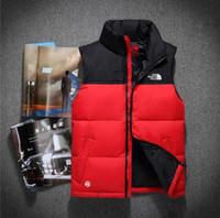 colete de alta qualidade para homens venda por atacado-2018 nova marca dupla face de alta qualidade dos homens para baixo colete jaqueta Outerwear casaco grosso inverno sportswear colete para homens