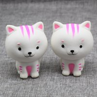 Wholesale pussy straps resale online - Kawaii Cat Kitty Pussy Squishy Slow Rising Phone Straps Accessories Soft Squeeze Animal Bread Charms Scented Kid Toy Gift P15