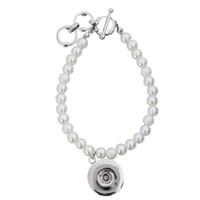 ювелирные изделия diy pearl wedding оптовых-3pcs/lot simple Handmade Imitation Pearl Bracelet  Bangle Wedding Jewelry Accessories Gif Elastic DIY Charm Bracelet