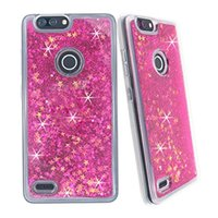 Wholesale bling blades for sale - Group buy For ZTE BLADE X Z965 TEMPO WARP Z MAX Z982 TPU Oil Liquid water Glitter Bling Case Floating Stars Colorful Cover CASE