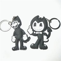 Bendy Figures Toys PVC Keychain Game Horror Bendy and Boris Figuras Bag Pendant Kids Cosplay Gift DDA717 Novelty Items