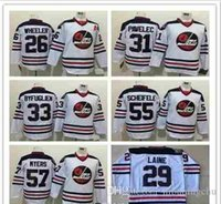 jets jerseys baratos al por mayor-2016 Winnipeg Jets Heritage Camisetas clásicas de hockey 29 Patrik Laine 55 Mark Scheifele 33 Dustin Byfuglien 26 Wheeler 57 Myers 31 PAVEL