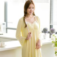 Wholesale Ms Homes - NEW-GRLBOBRA bamboo fiber two-piece home service Japan and South Korea Ms. sexy cup V-neck pajamas