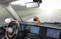 ingrosso bobble testa bambole-Auto Ornamento Agitazione Testa Bambola per cani Profumo solido Decorazione Cute Automobile Interno cruscotto Bobble Head Dog Toys Accessori