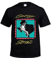 Wholesale george t shirt online - George Strait Vintage Country Music black Men T shirt size S XL Brand Cotton Men Clothing Male Slim Fit T Shirts