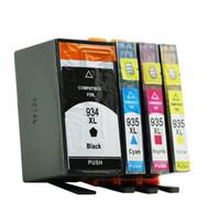patrone hp pro großhandel-4 teile / satz Tonerpulver für HP Officejet Pro 6820/6230/6812/6815/6835 tintenpatrone für HP934 drucker