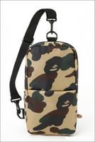 homens do saco do japão venda por atacado-Macaco Moda Homens Cross Body Bags Japão Marca Designer Chest Bag Sport Packs Ao Ar Livre Camuflagem Cross Body Sacos de Homens de Alta Qualidade