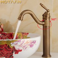 Wholesale antique ship sinks - Free shipping Antique bronze finishing Output bathroom sink faucet tap torneira basin faucet wash basin tap YT-5050