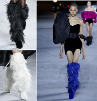 avestruz venda por atacado-2018 outono e inverno mulheres nova moda botas de pele Europeia e Americana feminino taper alta spike saltos de pele de avestruz botas de moda slim