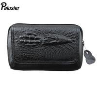 Wholesale crocodile oil for sale - Group buy New Men Oil Wax Genuine Leather Waist Pack Crocodile Embossed Design Vintage Cowhide Wallet Hip Bum Belt Bag Mobile Phone Pouch