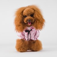 Wholesale Princess Vogue - 2018 Public party spring Thin section clothes pet cat teddy bear puppy Medium-sized dog VIP breathable Princess Korean vogue bubble shirt