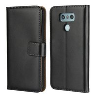 étuis nexus en cuir véritable achat en gros de-Étui portefeuille en cuir véritable pour LG Q6 G6 K10 2017 Nexus 6 P titulaire de la carte de crédit Stand Cover Wallet Flip cas téléphone cas