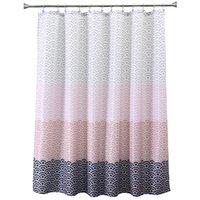 tecidos florais para cortinas venda por atacado-Eco-friendly Longer Rosa banheira banheiro chuveiro cortina de tecido forro com 12 Hooks 72Wx80H polegadas impermeável e mildewproof