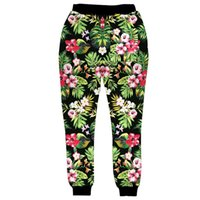 Wholesale floral print pants men - Fashion New style for Men Jogger Pants Flowers 3D Floral Print Sweatpants Hip Hop Trousers S-XL