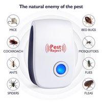 ingrosso killer elettronico di zanzara-Mosquito Killer Pest Rifiuta Elettronica Ultrasuoni Repeller Repeller Reject Rat Mouse Repellente Anti Rodent Bug Reject House Office Restaurent