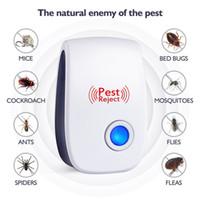 elektronik ultrasonik fare sivrisinek toptan satış-Sivrisinek Katili Haşere Elektronik Ultrasonik Haşere Kovucu Reddetmek Sıçan Fare Kovucu Anti Kemirgen Bug Reddetmek Evi Ofis Restaurent