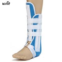 soporte de tobillo azul al por mayor-Azul Foot Calf tobillo férula soporte de apoyo Walking Boot Foot Brace Walker S-L