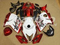 abs plástico para hayabusa al por mayor-Nuevo Hot ABS Plastic Kits de Carenado moto 100% Fit para suzuki GSXR1300 Hayabusa 08 09 10 11 12 13 14 15 GSX-R1300 Red White F14