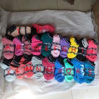 iç çamaşırı gösteren toptan satış-Göster Pembe Halhal Spor Çorap Pamuk Moda Kısa Çorap Terlik Kız Seksi Aşk Pembe Gemi Çorap Yaz Iç Çamaşırı Pembe Çorap