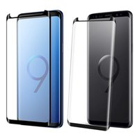 Wholesale hd anti glare screen protector - 3D Full Edge Coverage Tempered Glass For iPhone X Samsung Galaxy Note 8 S9 S8 S7 Plus 9H Hardness HD Clear Screen Protector
