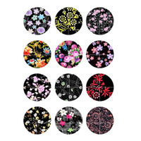 Wholesale Glass Chunks - New Chunks 272 Hot Sale 12mm 18mm Glass Snap Button Cabochon For Interchangeable Women Charm Bracelet Necklace Jewelry Accessories gift