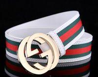 Wholesale boys belt sizes - 2017-H brand belt High quality real leather belt men Automatic belts luxury Brand Fashion brand designer belts men Silver Gold Buckle belt