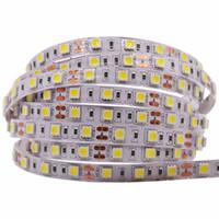 éclairage étanche à la corde 12v achat en gros de-Nouveau SMD 2835 5050 bande de lumière led bande 12V 60leds / M étanche IP65 IP21 blanc chaud / RGB / ROUGE / BLEU / VERT bande de corde flexible