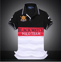 Wholesale watches polo - Brand designer - discounted PoloShirt men Short Sleeve T shirt Brand polo shirt men Dropship Cheap Best Quality black watch polo team Free
