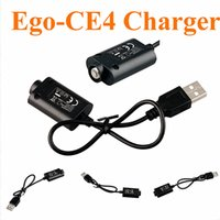 cargadores de cigarrillos electronicos ce4 al por mayor-Cargadores USB Ego-CE4 cigarrillo electrónico para ego / ego-T / Ego-K Joye 510 E Cigarette