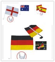 asa de fútbol al por mayor-Más barato! 2018 bandera del coche de la taza del mundo de Rusia 32 bandera de la ventana del fútbol del coche del equipo nacional 30 * 45cm con un clip con la manija