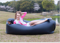 Wholesale comfortable folding - Ultra-light indoor outdoor portable lazy sofa folding inflatable sofa beach lazy air comfortable air sofa outdoor