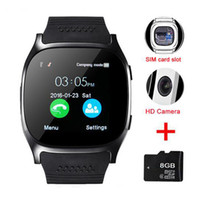 u8 relojes inteligentes para hombres al por mayor-Reloj inteligente Bluetooth T8 con reloj de pulsera Bluetooth para cámara para hombres Android Reloj inteligente Momen VS X6 U8 A1 Q18 DZ09 GT08 GV18 Y1