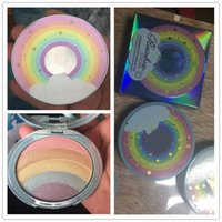 Wholesale Rainbow Shipping - New makeup Rainbow Highlioghter Strobe Glow pressed Powder 5colors in 1 palette High quality DHL shipping