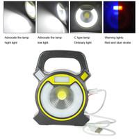 focos de iluminación de emergencia al por mayor-Boruit 15W COB LED acampar yendo de excursión linterna del reflector Impermeable al aire libre 4-Mode emergencia foco LampTent Light