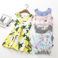 Wholesale old clothing brands - Floral Girls Dress baby girl clothes fashion 2018 kids girls clothing Summer beach Dresses 2-10 years old