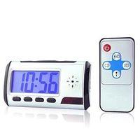 Wholesale mini video clock for sale - Digital Alarm Clock mini Camera with Motion Detection Remote Control Clock pinhole DVR Digital Sound Video recorder home security cam