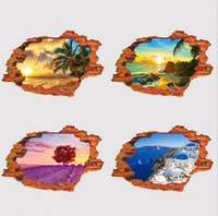 ingrosso 3d finta finestra-Adesivi murali adesivi 3D paesaggi adesivi murali personalità creativo adesivi murali in PVC falso paesaggio adesivi murali