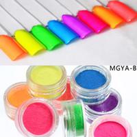 ombre pregos venda por atacado-8 cores em pó de pigmento de néon ombre neon pigmentos gradiente de pó em pó pigmentos gradiente diy acrílico
