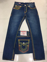 Wholesale Good Rocks - Good quality NEW hot Men's true Robin Rock Revival Jeans Crystal Studs Denim Pants Designer Trousers Men's size 30-40