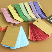 Wholesale Wholesale Note Cards Blank - Wholesale- Creative Candy Color Buckle Binder Notes Portable Flash Cards Memo Pads Cute Stationery DIY Blank Card