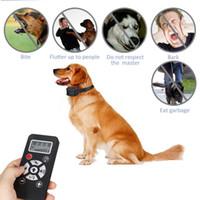 köpekler için havlayan yaka toptan satış-Köpek Eğitim Tasması Pet Köpek Su Geçirmez Şarj Edilebilir Anti Bark Yaka Ayarlanabilir 7 Hassasiyet Düzeyleri Titreşim Dur Barking BBA262