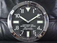 sanat masa saati toptan satış-Yeni Varış İzle Sape Masa Saati Lüks Metal Duvar Saati Parlayan Özellikler ile Metal Sanat Saat Modern Tasarım Logosu erkek Izle