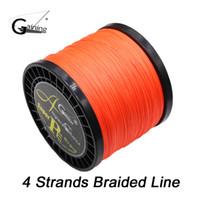 4 Strands Braided Fishing Line 1000m Multi Color Super Strong Japan Multifilament PE Braid Line 6.0-137.0LB