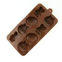 kaninchen-plätzchen großhandel-Ostereier kaninchen form formen cookie kuchen schokolade backen werkzeuge leicht zu reinigen sicher schimmel ungiftig 3 2yq b