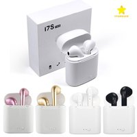 Wholesale Iphone Headphones Boxed - I7S TWS Bluetooth Headphone with Charger Box Twins Wireless Earbuds Earphones for iPhone X IOS iPhone Android Samsung with Retail Packing